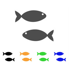 fish pair icon vector image