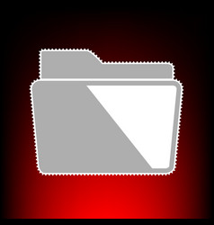 folder sign postage stamp or old vector image vector image