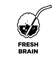 fresh brain idea creative icon smart intelligence vector image vector image