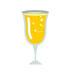 Glass of champagne isolated wineglass of wine on vector