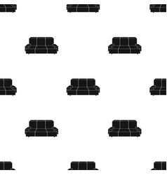 Green couch icon in black style isolated on white vector