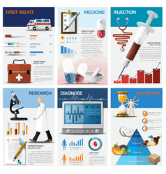 Health and medical chart diagram infographic vector