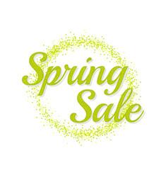 inscription spring sale vector image