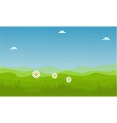 Landscape hill at spring backgrounds vector