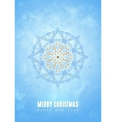Merry christmas happy new year fancy blue winter vector image