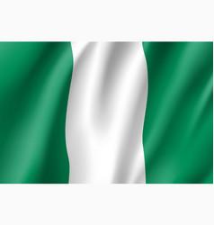 nigeria realistic flag vector image vector image