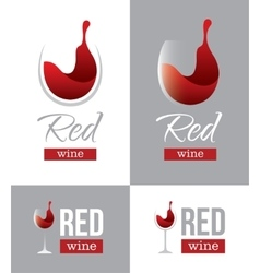 Red wine logo vector image vector image
