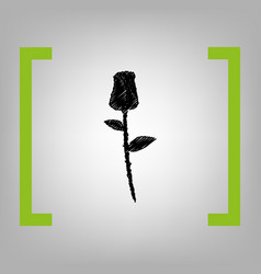 Rose sign black scribble vector