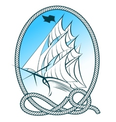 Sailing Ship Emblem vector image