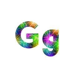 Set of letters firework G vector image