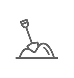 simple pile of sand line icon symbol and sign vector image