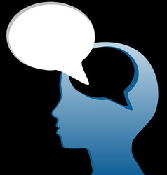 social think speak mind speech bubble cut out vector image vector image