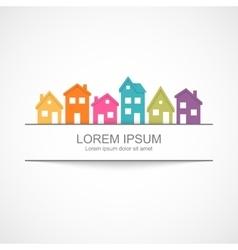 Suburban homes icon vector