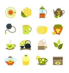 Tea icons set vector