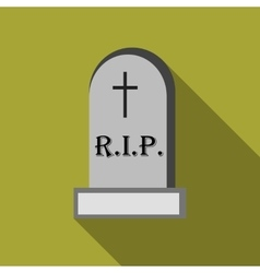 Tombstone icon flat style vector