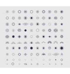 100 handmade sunburst vector