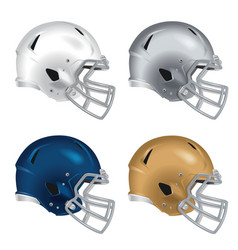 Football helmets with gray facemasks vector image