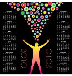 2010 man circles calendar vector
