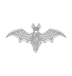 Contour bat vector