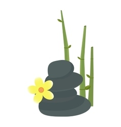 Stone flower and bamboo hygiene items vector