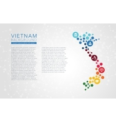 Vietnam dotted background vector