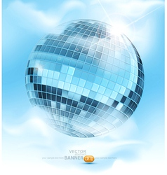 Mirrored disco ball vector