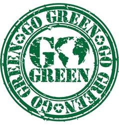 Go green stamp vector