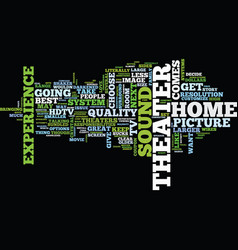 Your home theater how to hookup text background vector