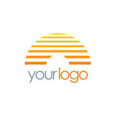 Line horizon company logo vector