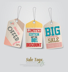 Vintage pricing tags vector