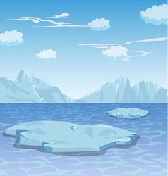 Winter frozen lake background vector