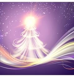 Christmas fir-tree vector