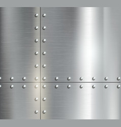 Background of the metal plates with riveted vector