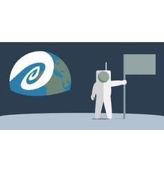 Man on the moon vector