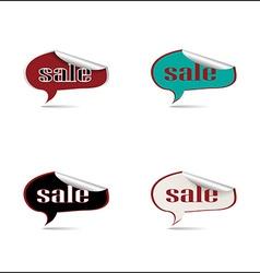 Set stickers sale vector image