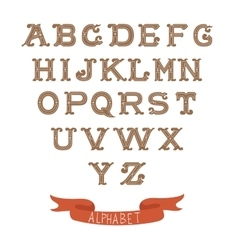 Colorful vintage alphabet on white background vector