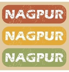 Vintage nagpur stamp set vector