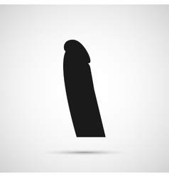 Dildo isolated on white background vector