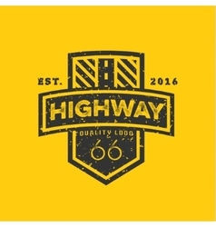 Road sign highway 66 high-quality brand-name vector