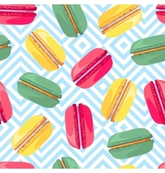 Seamless pattern with french sweet macaroons vector