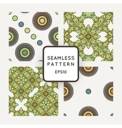 Set of seamless geometric patterns of vector