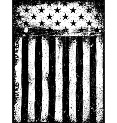 Stars and Stripes Monochrome Negative Photocopy vector image