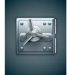 Metallic door of bank safe for money vector image