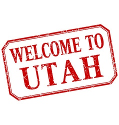 Utah - welcome red vintage isolated label vector