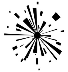 Abstract explosion on white background vector