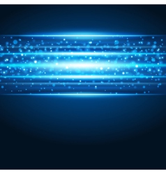 Smooth technology light lines background vector image