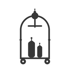Baggage cart icon hotel design graphic vector
