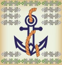anchor arm vector image