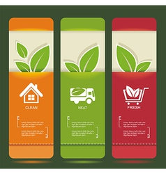 bio concept design eco banners vector image vector image