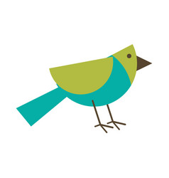 Bird geometrical shape icon image vector